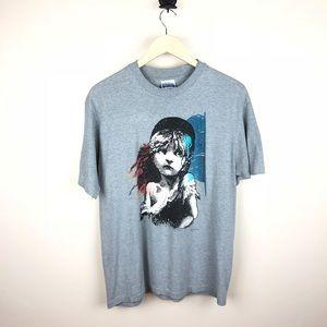Les Miserables 1986 Single Stitch T-shirt Size XL